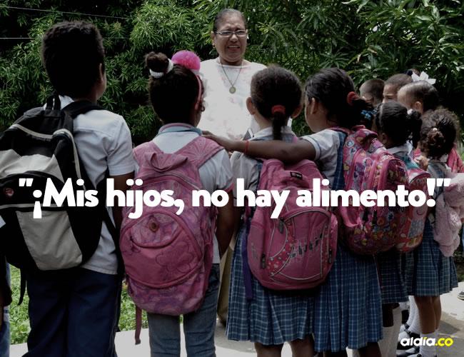 La rectora Luz Dari Lozano a diario explica a sus alumnos el porqué no hay desayuno ni almuerzo | Al Día