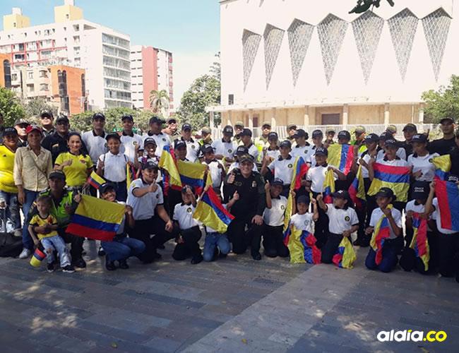 Acto organizado por la Policía Metropolitana en la Plaza de la Paz de Barranquilla. | Al Día