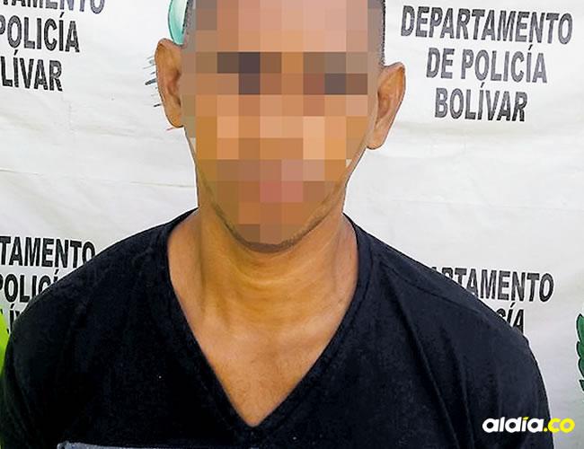 El hombre fue capturado por parte de la Policía en el municipio de Mompox, sur del departamento de Bolívar | AL DÍA