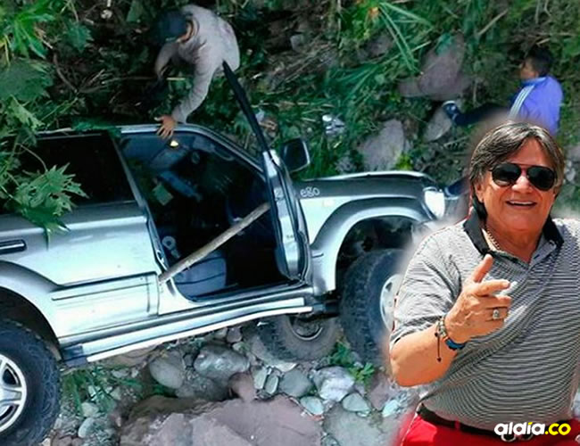 Estado en que quedó la camioneta en donde se desplazaba 'el Palomo' Dangond. | Al Día