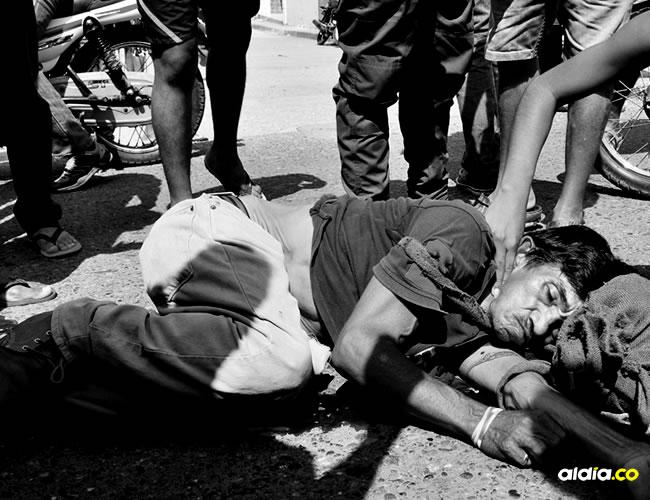 Ariel Oseas Díaz Guevara sufrió un fuerte golpe en la cabeza, la bicicleta en la que se movilizaba sufrió daños de consideración | Al Día