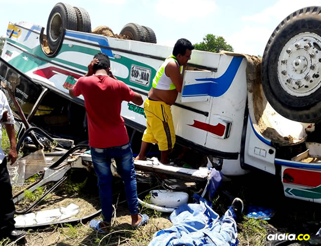 La víctima mortal está identificada como Jeiner Navarro Parra, de 27 años, conductor del vehículo de placas UVN- 483 | Al Día