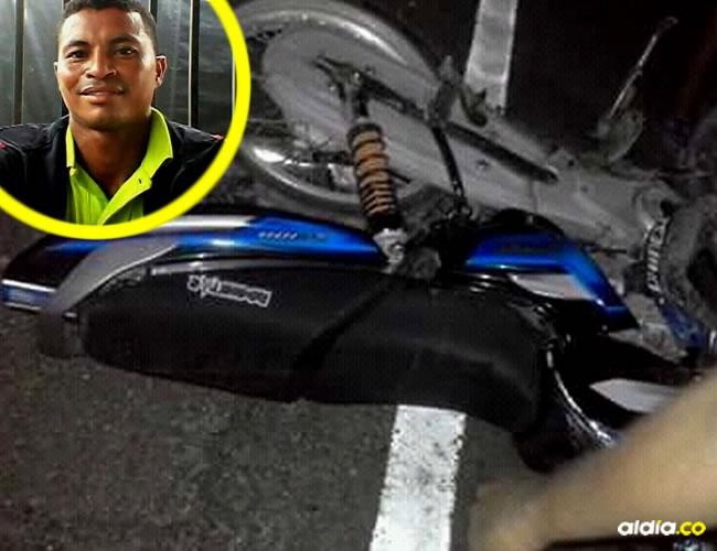 Óscar Iván Pérez Gaona murió instantáneamente, infortunadamente iba conduciendo su moto alicorado.   AL DÍA