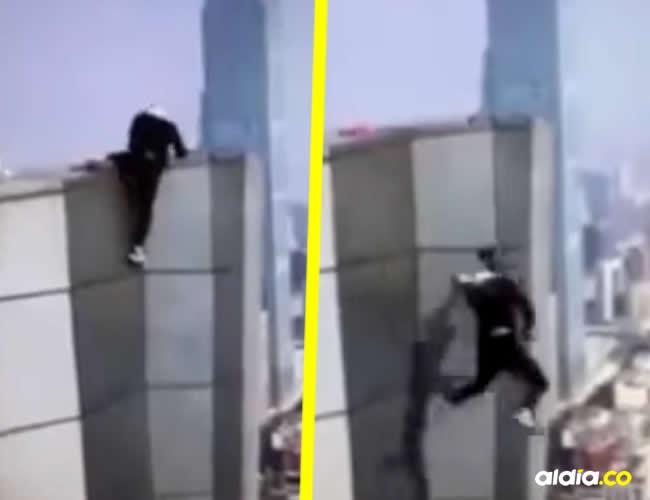 Wu Yongingera el primer chino reconocido por grabar videos desafiantes en las cimas de rascacielos | Captura de pantalla
