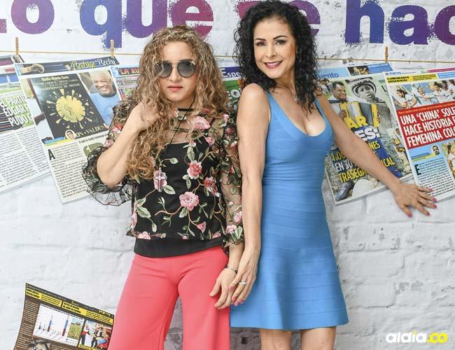 Lourdes estuvo acompañada de la cantante Nuby Pop Music.