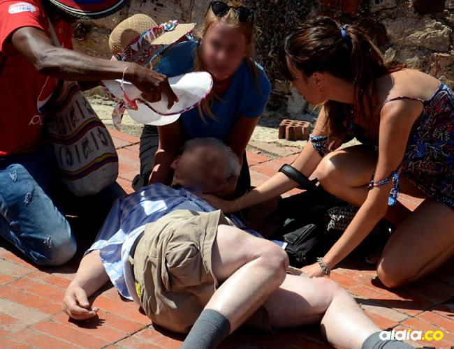Gunter Kill Eisernyaslt cayó al piso y tras el fuerte golpe registró varias fracturas.   AL DÍA