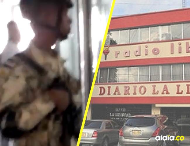 Momento en el que hacen el procedimiento en las emisoras de la Cadena Radial La Libertad.