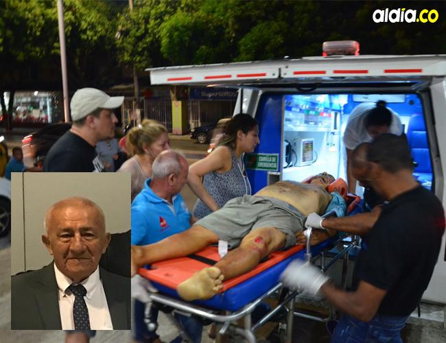 Santos Pío Páramo Rojas, de 81 años, fue atropellado por un vehículo en el sector de La Revuelta y falleció en la clínica.