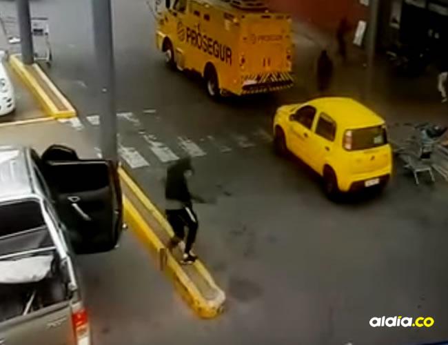 El momento quedó registrado en video   Captura de pantalla