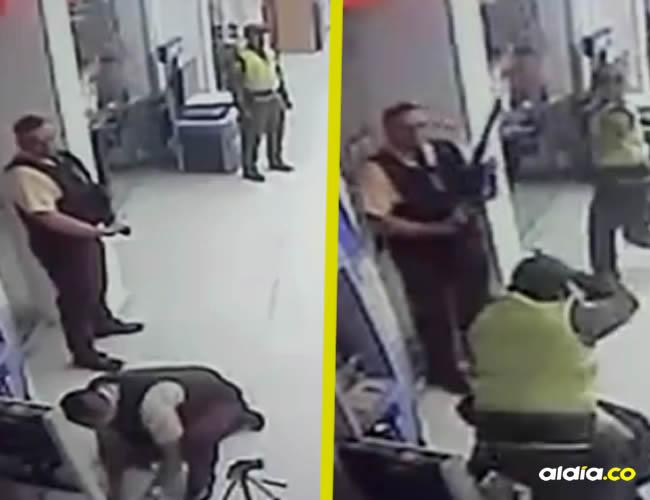 El cinematográfico asalto ocurrió a las 6:30 de la mañana de este domingo | Captura de pantalla