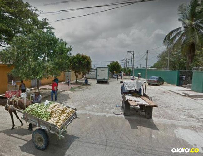 Sitio donde ocurrió el crimen de Jaine Vélez.