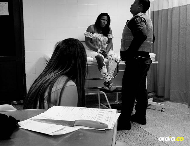 La supuesta agresora fue llevada hasta el Hospital Rosario Pumarejo de López debido a los golpes que le propinó su compañero sentimental.