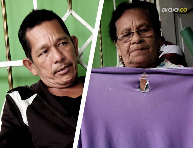 Miguel Antonio Celín, resultó herido tras evitar que atracaran a su hija y En la camiseta quedó el orificio de la bala | Foto: Al Día