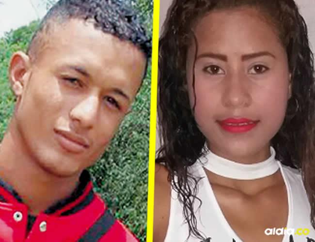 Brayan de Jesús González Ochoa, de 19 años y Wendy Paola Pérez Calderón |  AL DÍA