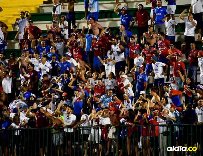 Hinchas del Nacional de Montevideo que asistieron a la Arena Condé | AFP