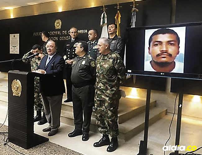 El ministro de Defensa, Luis Villegas; y el alto mando anunciaron la muerte del capo | Cortesía