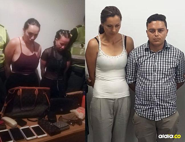 Las dos capturadas tenían antecedentes penales por hurto calificado.