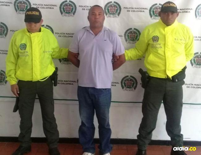 Javier Zúñiga, capturado en el municipio de Fonseca.