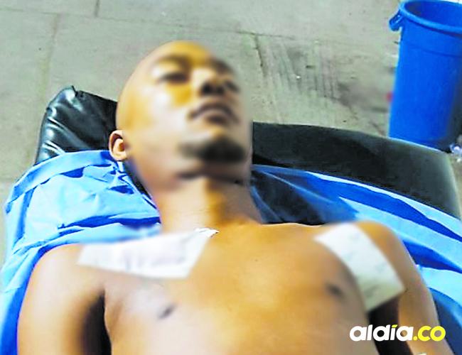 Tras enfrentarse a la Policía, Josnáider Navarro  recibió un disparo en un testículo.