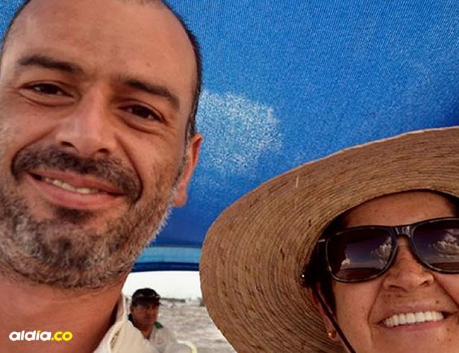 Juan Manuel Campo y su madre Mireya Kurmen | Foto: Cortesía El Tiempo