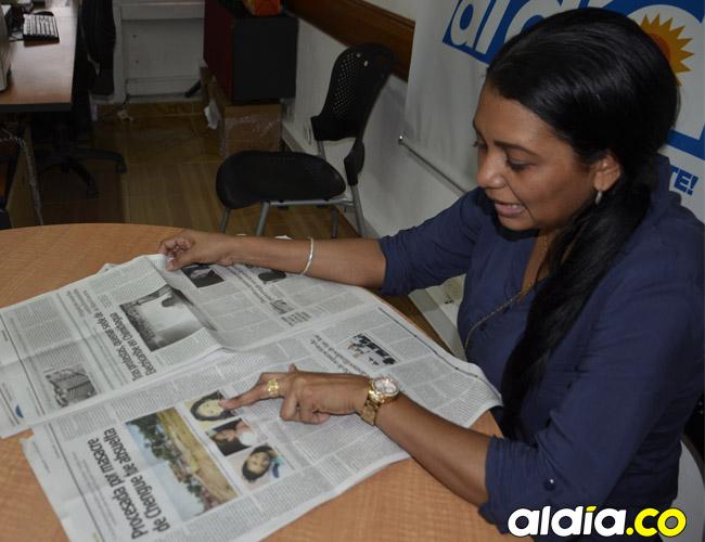 En las páginas de EL HERALDO, en su sede en Sincelejo, Nidia se refirió al retrato hablado que en nada se parece a sus rasgos, pero sí a los de Shirly Luna Díaz.