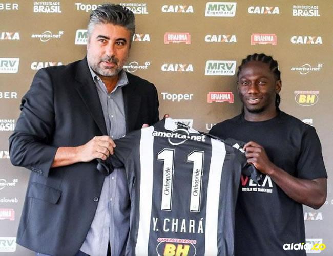 El delantero colombiano Yimmi Chará portará el número 11 en el Atlético Mineiro.   Cortesía