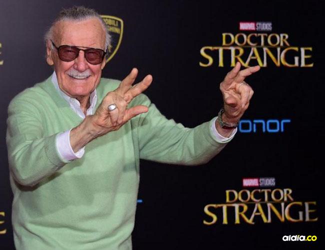 Stan Lee, leyenda del cómic.   Tomada de AFP