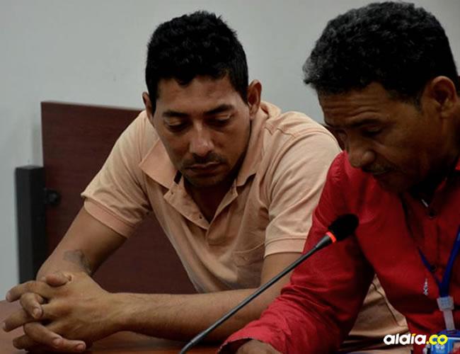 Elkys Ayala Arroyave (izquierda) en la sala de audiencias | Luis Felipe De la Hoz