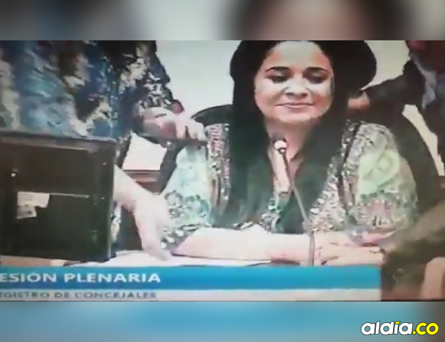 Xinia Navarro, concejal bogotana por el Polo Democrático. | Captura de video