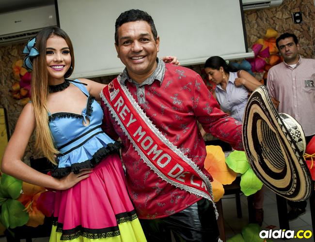 Kelly Restrepo y PedroTapias, reina y rey momo del Carnaval de la 44. | César Bolívar