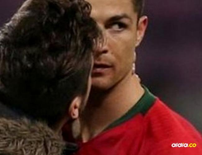 Cristiano Ronaldo y fanático I Captura video