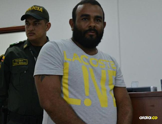 Damián Alonso Jiménez Rivera, capturado en el Magdalena, le legalizaron la captura ayer. | AL DÍA
