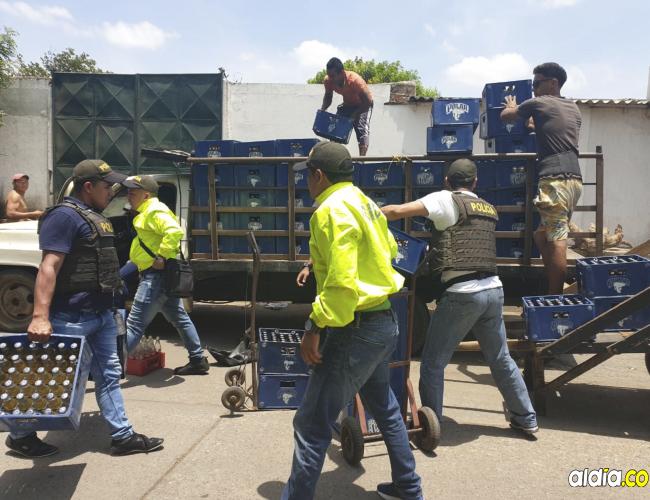 Las autoridades identificaron el lugar de donde salían carretillas cargadas con cerveza.