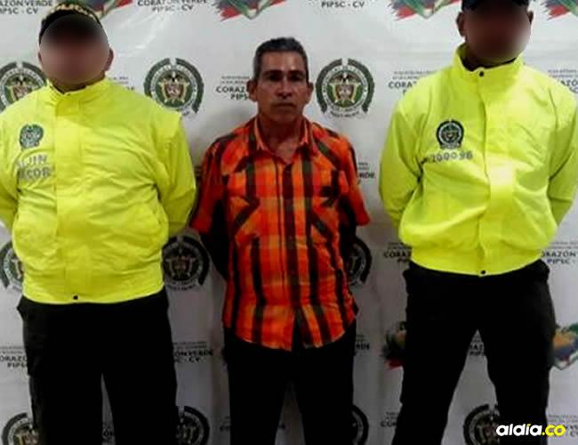 José Hernández, capturado | Cortesía