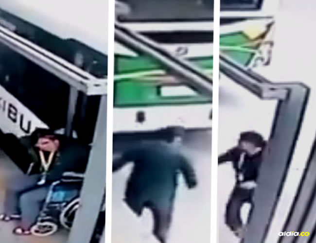 El hecho quedó registrado en las cámaras de seguridad de la estación | Captura de pantalla
