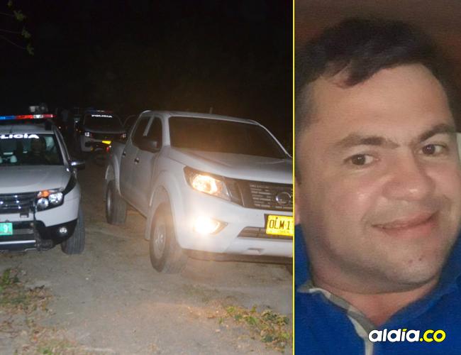 La Policía llegó hasta el lugar del crimen de Gustavo Adolfo Mercado Vergara, 'el Puerca' e inició los trabajos de investigación.