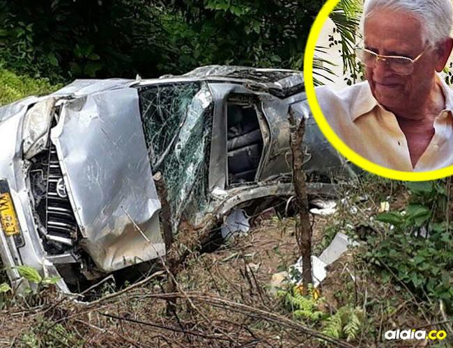 El exalcalde samario Carlos Lacouture Dangond falleció luego que la camioneta en la que bajaba de una finca cayera ayer por un barranco. | Al Día