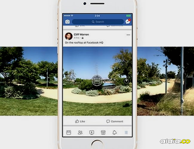 La aplicación de Facebook para iOS y Android ya está actualizando con la nueva función y así el usuario puede hacer este tipo de fotos sin dejar de estar en la red social   Facebook 360°