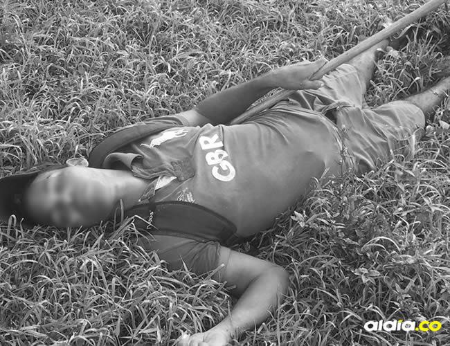 Robert Martínez Gómez, de 22 años, fue hallado sin vida en los predios de una finca en el barrio Membrillal | Cortesía