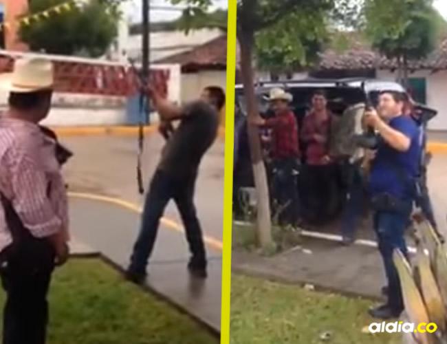 La verdadera escena del video corresponde a una celebración de las fiestas de la virgen en un municipio de México | Captura de pantalla video YouTube