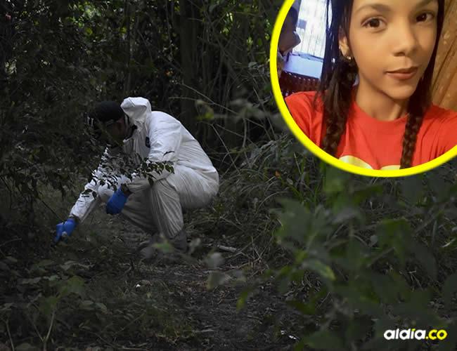 Peritos del CTI revizan la zona donde fue hallado el cadáver de la joven estudiante del Sena, el pasado viernes | Al Día