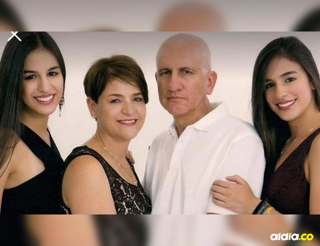 Los miembros de la familia colombiana que fallecieron en el accidente vial.   Tomada de Facebook
