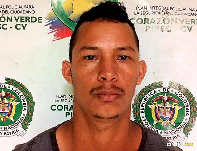 Julio César González Navarro había sido capturado el 27 de abril de este año   Cortesía Prensa Mebar