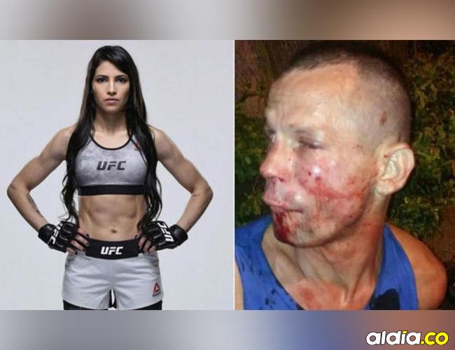 Así dejó la luchadora de MMA, Polyana Viana, al ladrón.