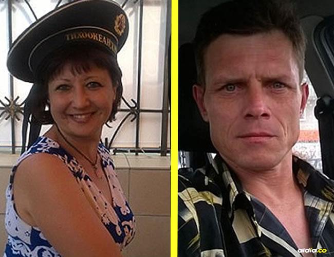 Irina Gonchar, la víctima (izq). Anatoliy Ezhkov, el agresor (der)   Daily Mail
