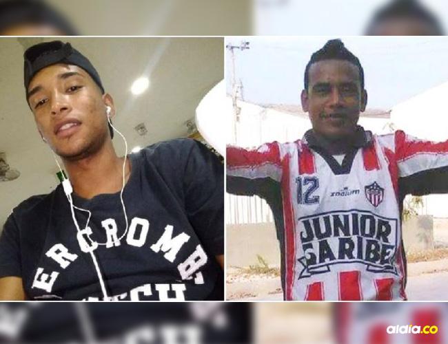 Egidio Enrique Comas Aragón, la víctima mortal (i) y Kevin José Cabrera Donado, el presunto agresor (d).