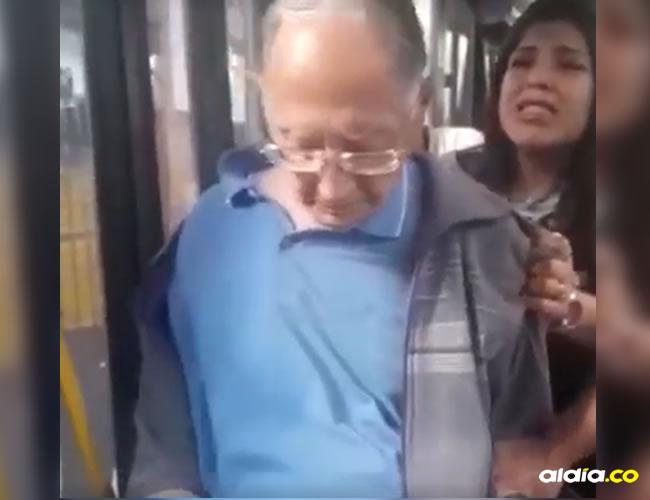 Los implicados en el incidente | Captura del video en Facebook.