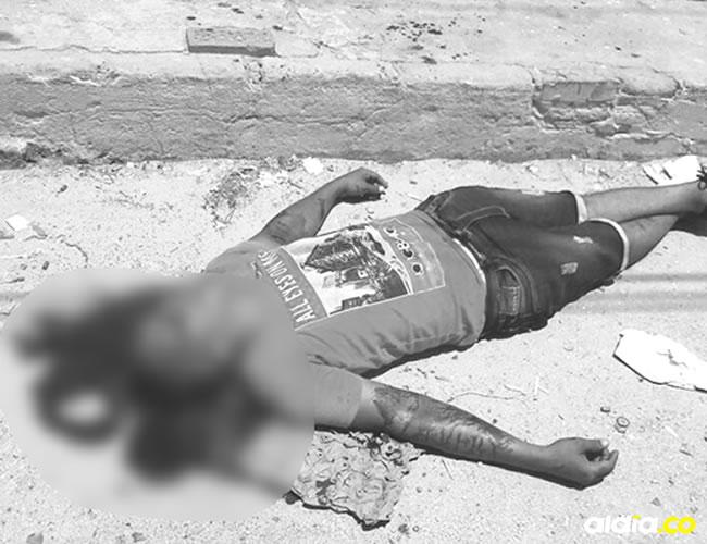 Denilxon David González Angulo, alias 'Toby', murió de manera instantánea tras los cinco balazos que le propinaron dos hombres en moto.   Al Día