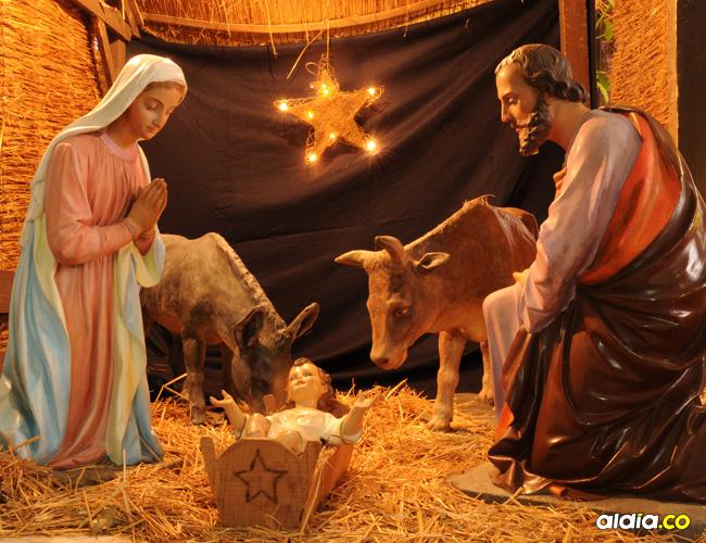 El pesebre es uno de los símbolos clave en la Navidad.