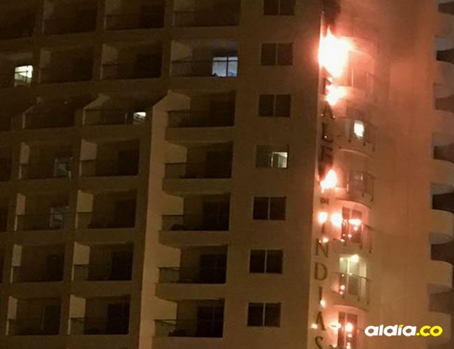 La conflagración fue atendida por el cuerpo de bomberos de la ciudad | Al Día